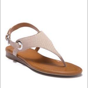 Franco Sarto Goldy Beige Leather Sandals